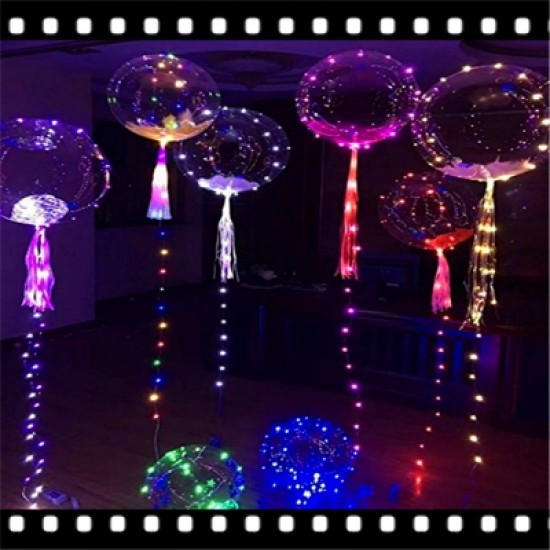 Powered By Button Batteries Led Balloon Air Balloon String Lights Round Bubble Helium Balloons Kids